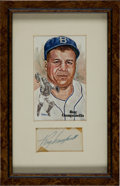 Baseball Collectibles:Others, Roy Campanella Signed Cut Signature Display....
