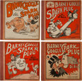 Platinum Age (1897-1937):Miscellaneous, Barney Google and Spark Plug #1-4 Group (Cupples & Leon,1923-28) Condition: Average VG-.... (Total: 4 Comic Books)