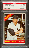 Baseball Cards:Singles (1960-1969), 1966 Topps Mickey Mantle #50 PSA VG-EX 4....