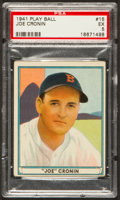 Baseball Cards:Singles (1940-1949), 1941 Play Ball Joe Cronin #15 PSA EX 5....
