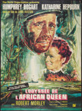 "Movie Posters:Adventure, The African Queen (Rank, R-1965). French Grande (45"" X 61.5"").Adventure.. ..."