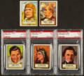 Non-Sport Cards:Lots, 1952 Topps Look 'N See Collection (5) - with Babe Ruth. ...