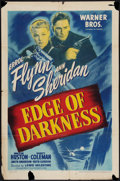 """Movie Posters:War, Edge of Darkness (Warner Brothers, 1943). One Sheet (27"""" X 41"""").War.. ..."""