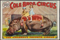 """Movie Posters:Miscellaneous, Circus Poster (Cole Brothers, 1930s). Poster (30"""" X 40.5""""). Miscellaneous.. ..."""