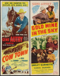 """Movie Posters:Western, Cow Town & Other Lot (Columbia, 1950). Inserts (2) (14"""" X 36""""). Western.. ... (Total: 2 Items)"""