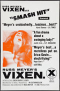 "Movie Posters:Sexploitation, Vixen! (Eve Productions, 1968). One Sheet (27"" X 41"") Flat Folded,Review Style. Sexploitation.. ..."