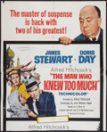 """Movie Posters:Hitchcock, The Man Who Knew Much (Paramount, 1955). Partial Three Sheet(40.75"""" X 50.25""""). Hitchcock.. ..."""