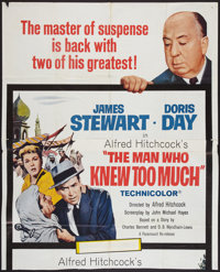 """The Man Who Knew Much (Paramount, 1955). Partial Three Sheet (40.75"""" X 50.25""""). Hitchcock"""