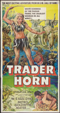 "Movie Posters:Adventure, Trader Horn (MGM, R-1953). Three Sheet (41"" X 81""). Adventure.. ..."