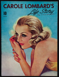 "Carole Lombard's Life Story (1942). Memorial Magazine (36 Pages, 8.5"" X 11.5""). Miscellaneous"