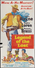 "Movie Posters:Adventure, Legend of the Lost (United Artists, 1957). Three Sheet (41"" X 81"").Adventure.. ..."