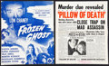 "Movie Posters:Horror, Inner Sanctum Lot (Universal, 1945). Uncut Pressbooks (2) (6 Pages, 11.5"" X 14""). Horror.. ... (Total: 2 Items)"