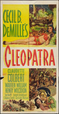 "Movie Posters:Historical Drama, Cleopatra (Paramount, R-1952). Three Sheet (41"" X 81""). HistoricalDrama.. ..."
