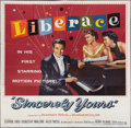 "Movie Posters:Drama, Sincerely Yours (Warner Brothers, 1955). Six Sheet (81"" X 81"").Drama.. ..."