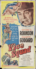 """Movie Posters:Crime, Vice Squad (United Artists, 1953). Three Sheet (41"""" X 81""""). Crime.. ..."""
