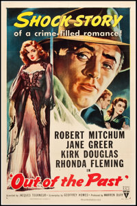 "Out of the Past (RKO, R-1953). One Sheet (27"" X 41""). Film Noir"