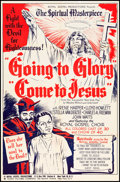 "Movie Posters:Black Films, Going to Glory, Come to Jesus (Toddy Pictures, 1946). One Sheet (27"" X 41"") and Herald (6"" X 9""). Black Films.. ... (Total: 2 Items)"