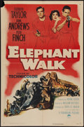"Movie Posters:Adventure, Elephant Walk (Paramount, 1954). One Sheet (27"" X 41""). Adventure.. ..."