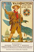 """Movie Posters:Miscellaneous, Boy Scouts Jamboree (Boy Scouts of America, 1935). Poster (27.5"""" X 42""""). Miscellaneous.. ..."""