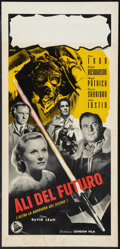 """Movie Posters:Action, Breaking the Sound Barrier (Dear Film, 1950s). Italian Locandina (13"""" X 27""""). Action.. ..."""