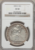 Seated Dollars, 1850-O $1 XF40 NGC....