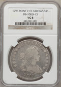Early Dollars, 1798 $1 Large Eagle, Pointed 9, 10 Arrows VG8 NGC. B-13, BB-108,R.3....