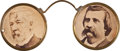 Political:Ferrotypes / Photo Badges (pre-1896), Blaine & Logan: Jugate Eyeglasses Novelty. ...
