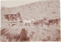 Western Expansion:Goldrush, [California Gold Mining] Stagecoach Arriving in Randsburg....