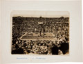 "Western Expansion:Cowboy, 1910 Reno, Nevada Boxing Photograph ""Fight of the Century"" JackJohnson vs. James Jeffries...."