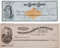 Western Expansion:Goldrush, [California Gold Mining] Two 1870s Bodie, California Checks....(Total: 2 Pair)