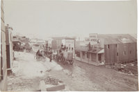 [California Gold Mining] Saloons and Stage Office - Intersection of Broadway and Butte Avenues Randsburg 1897