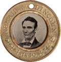 Political:Ferrotypes / Photo Badges (pre-1896), Lincoln & Hamlin: Back-to-Back Ferrotype....