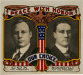 Political:Small Paper (1896-present), Cox & Roosevelt: Colorful Jugate Window Decal....