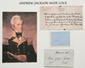 Political:Presidential Relics, Andrew Jackson: Three Strands of Hair....