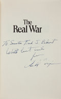 Autographs:U.S. Presidents, Richard Nixon: Geopolitics Book with Presentation Inscription....