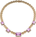 Estate Jewelry:Necklaces, Kunzite, Diamond, Gold Necklace. ...