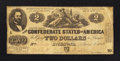 Confederate Notes:1862 Issues, T42 $2 1862 1-10 Plate Number Error PF-4 Cr. 336A.. ...