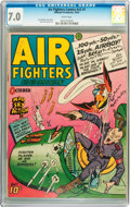 Golden Age (1938-1955):War, Air Fighters Comics V2#1 (Hillman Fall, 1943) CGC FN/VF 7.0 Whitepages....