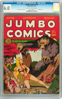 Jumbo Comics #19 (Fiction House, 1940) CGC FN 6.0 Cream to off-white pages