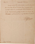 Autographs:U.S. Presidents, Thomas Jefferson: Letter Written as President....