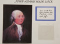 Political:Presidential Relics, John Adams: Hair Removed at the Time of His Death....