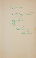 "Autographs:U.S. Presidents, John F. Kennedy: Signed Copy of ""Profiles in Courage""...."