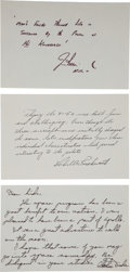 Autographs:Military Figures, [Space Exploration] Collection of Astronaut Autographs... (Total: 3 Items)