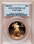 Modern Bullion Coins, 2003-W $50 One-Ounce Gold Eagle PR70 Deep Cameo PCGS. PCGSPopulation (181). NGC Census: (672). Numismedia Wsl. Price for ...