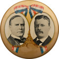 "Political:Pinback Buttons (1896-present), McKinley & Roosevelt: The Mighty 10"" Jugate...."