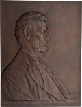 Political:3D & Other Display (1896-present), Abraham Lincoln: Awesome Victor Brenner Bronze Plaque....