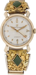 Western Expansion:Goldrush, Gold Nugget Wrist Watch....