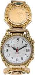 Western Expansion:Goldrush, Elaborate Gold Nugget Watch....