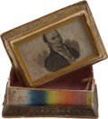Political:3D & Other Display (pre-1896), John Quincy Adams: Colorful Thread Box. ...