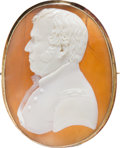 Political:Small Miscellaneous (pre-1896), Zachary Taylor: Exquisite Cameo Brooch....